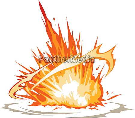 flames explosion energy danger bomb blast