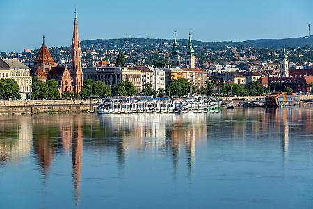 budapest reflected in danube river