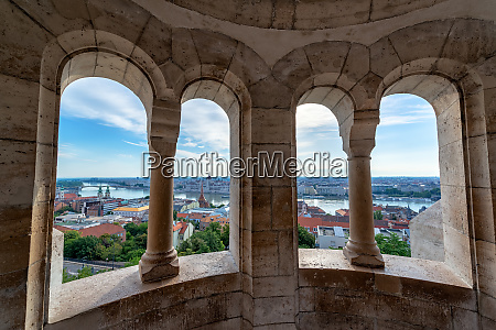 budapest cityscape from fishermans bastion
