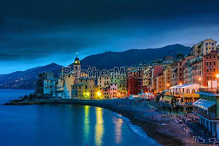 the tourist resort of camogli on
