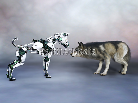 3d rendering of a robot dog