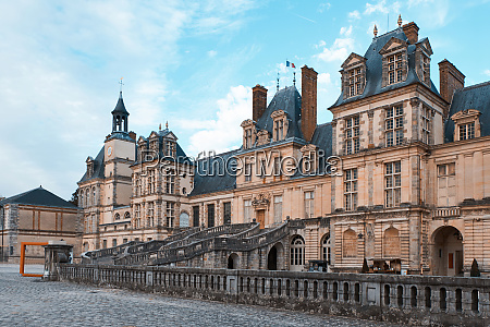 the palace of fontainebleau at daylight