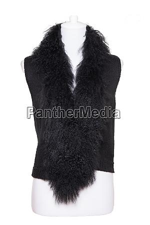 vest isolated black women vest with