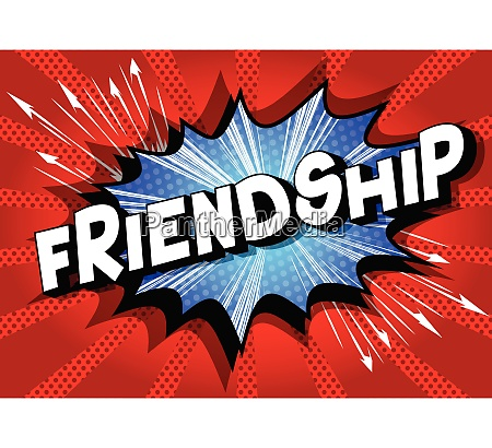friendship comic book style words