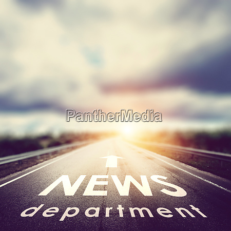 news department background