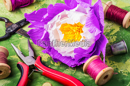 colourful handmade paper flowers