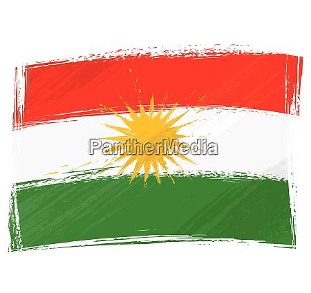 grunge kurdistan flag