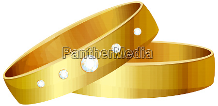 gold wedding ring diamond romance