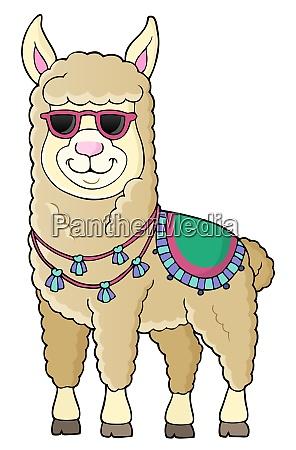 llama with sunglasses theme image 1