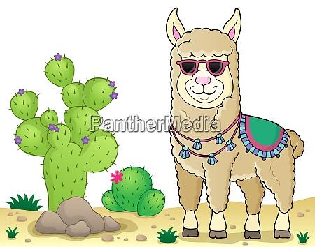 llama with sunglasses theme image 3