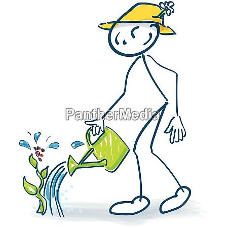 stick figure with a semolina jug
