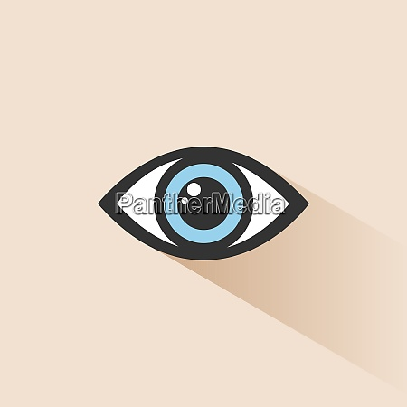 blue human eye icon with shade