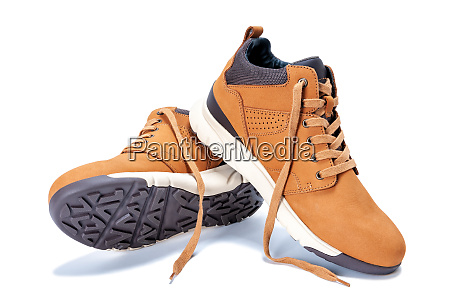mens shoes in natural nubuck leather