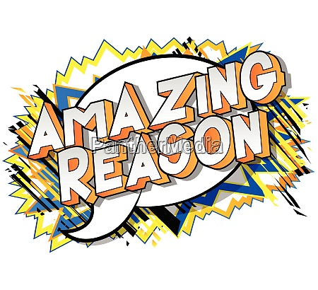 amazing reason vector illustrated comic