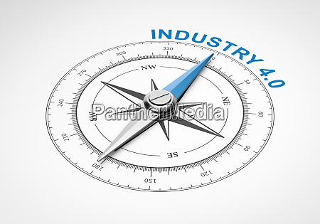 compass on white background modern industry