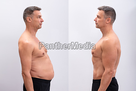 man before and after loosing fat