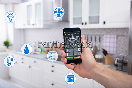 persons using smart home system application