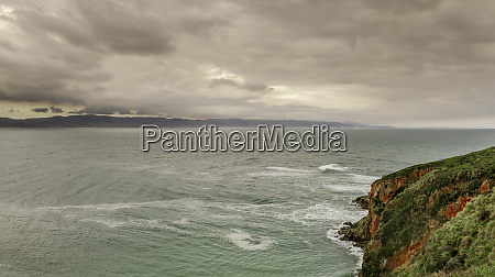 winter storm over drakes bay