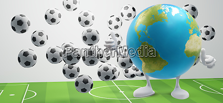 soccer ball at soccer field with