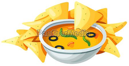 nachos cheese sauce snack appetizer crunchy