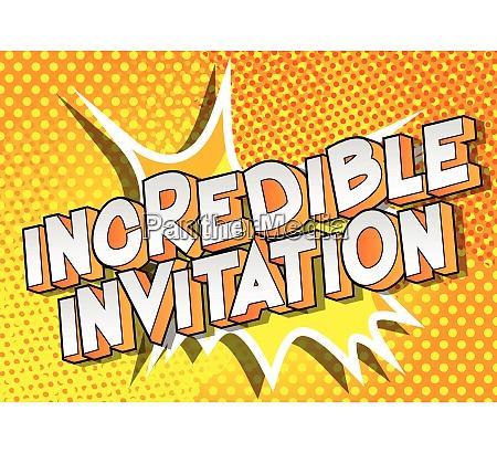 incredible invitation comic book style