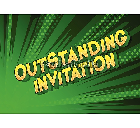 outstanding invitation comic book style