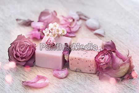 decoration with natural soap