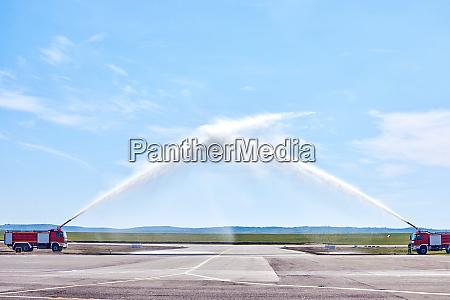 airplane water salute procedure in chisinau