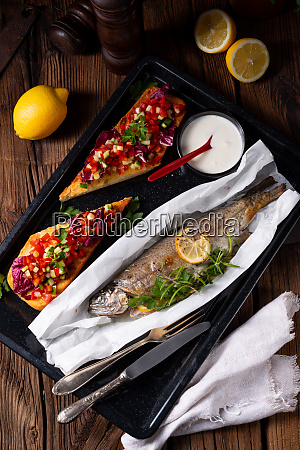 the perfectly baked oven trout with
