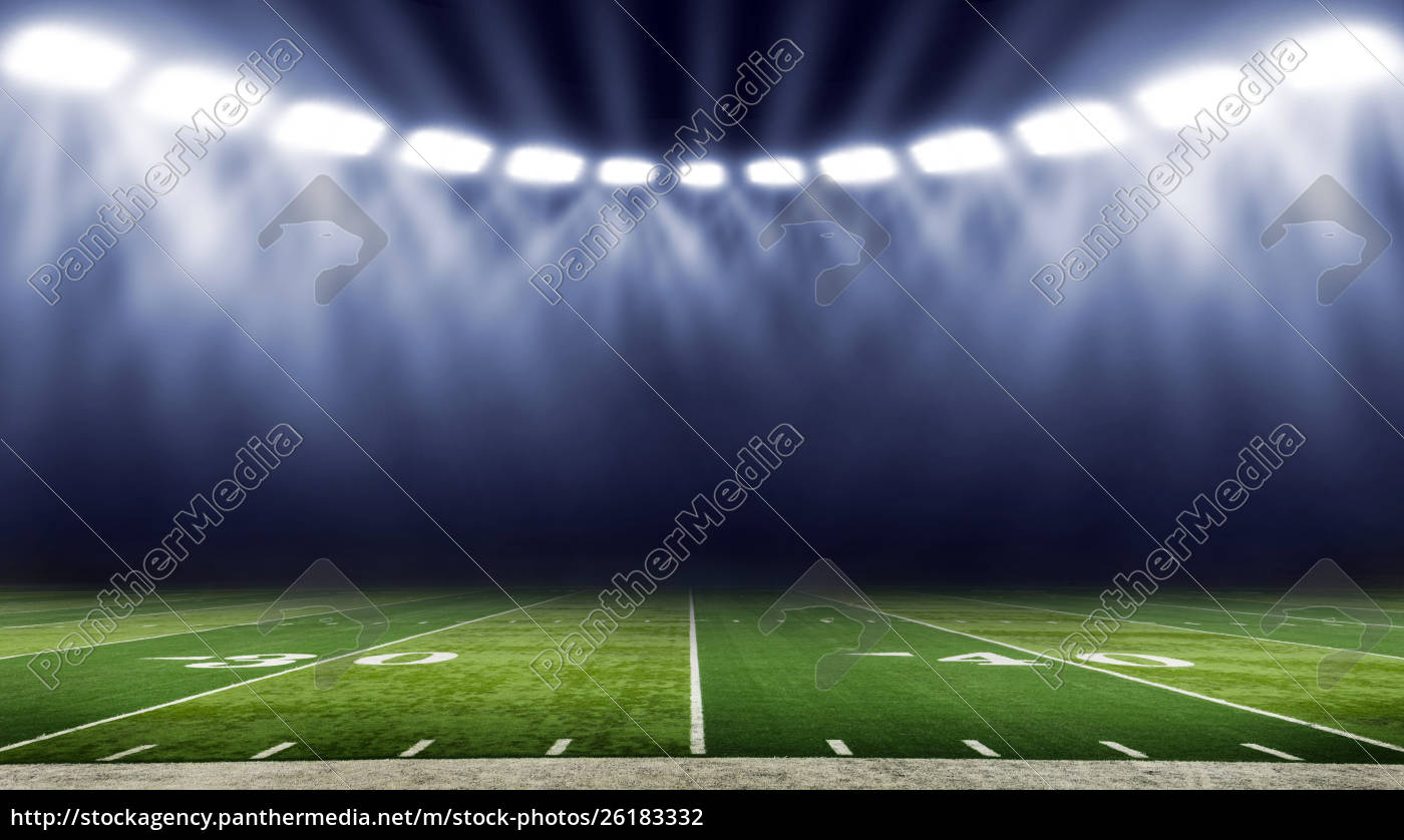 Royalty Free Photo 26183332 American Football Stadium Low Angle Field View