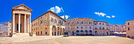 forum square and historic roman temple