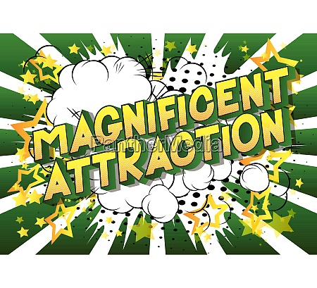 magnificent attraction comic book style