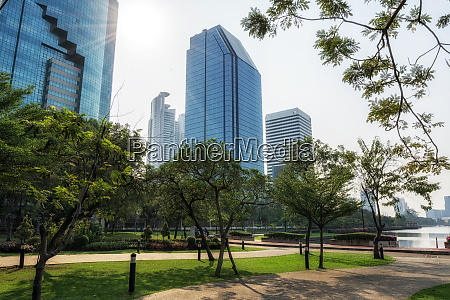 bangkok benjakitti park scenery