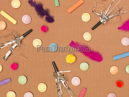 colorful brown carnival background with donuts