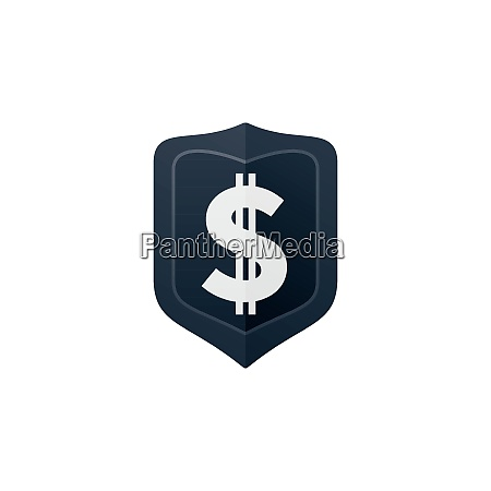 dollar sign on badge currency icon