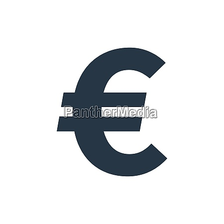 simple euro symbol currency icon