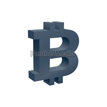 three dimensional crypto currency symbol currency