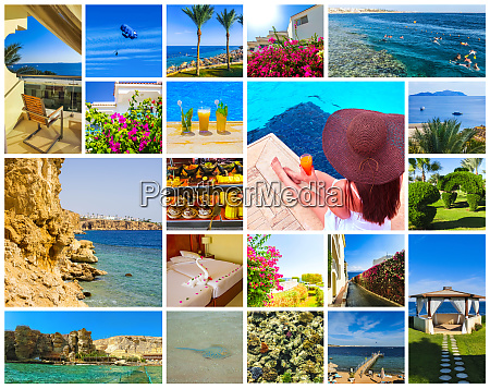 collage of pictures from egypt holidays
