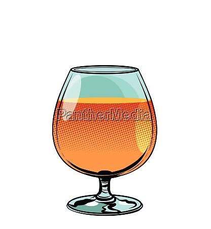 glass of cognac brandy