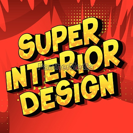 super interior design comic book