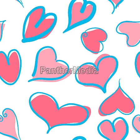 abstract seamless pattern with blue and