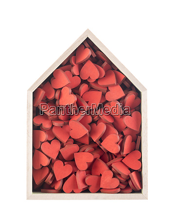 house full of love concept wooden