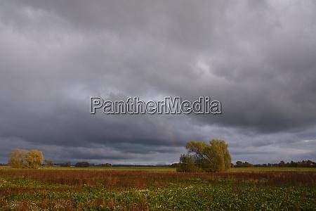 thunderstorm mood in autumn