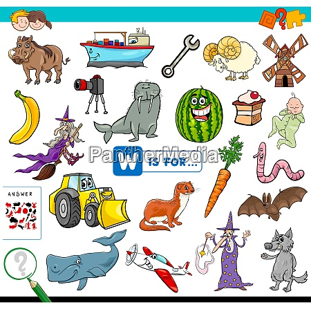 w is for educational game for
