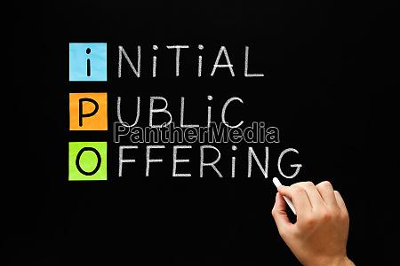 ipo initial public offering concept