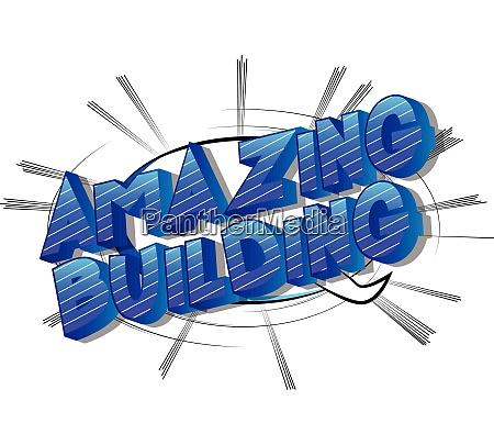 amazing, building, -, comic, book, style - 26194472