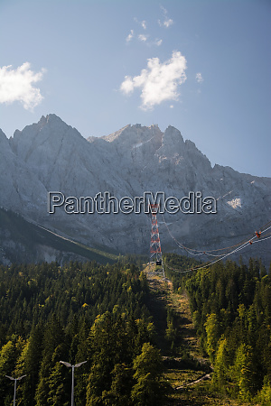 at the peak of the zugspitze