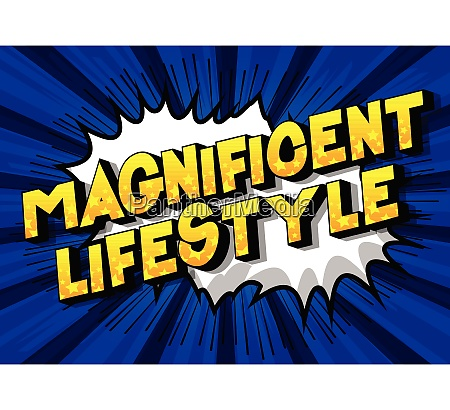 magnificent lifestyle comic book style