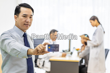patient with credit card for insurance