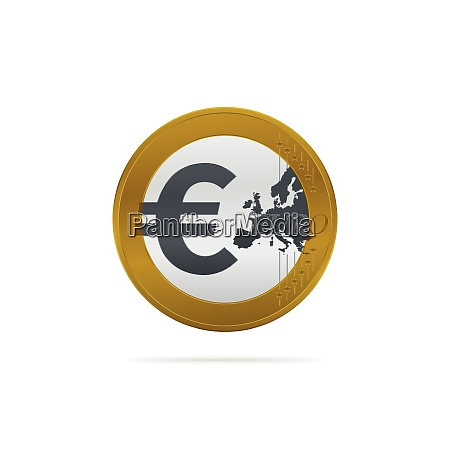 euro coin icon currency symbol